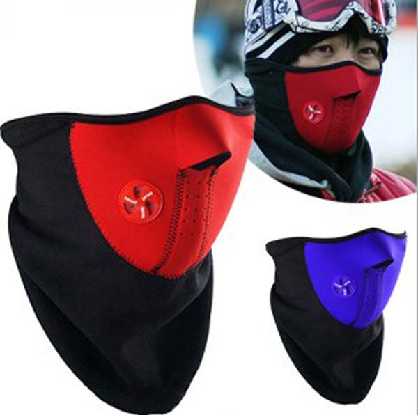 Motorcycle Half Helmet Face Mask Sport Bike Bicycle Ski Snow Snowboard Neck Winter Warmer Ear Windproof Scarf Blue Red Black Hot(China (Mainland))