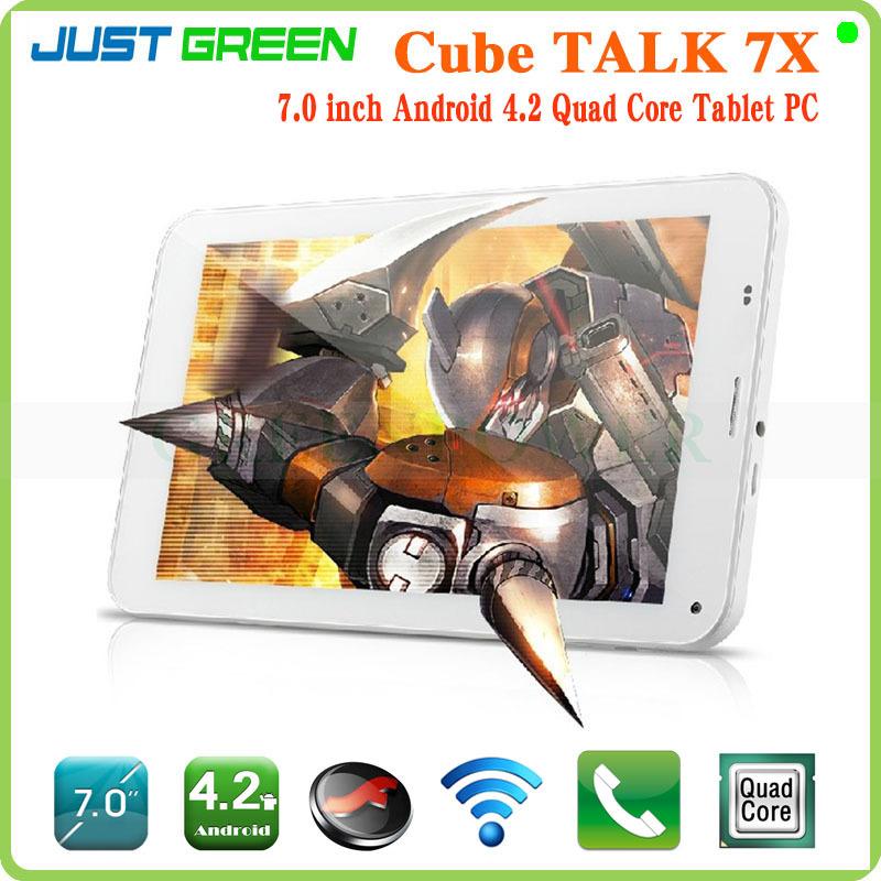 2014 vendita calda nuovo arrivo parlare 7x quad core tablet pc 7 pollici schermo ips Android 4.2 mtk8382 ram/rom: 1gb/8gb wifi/net/bluetooth