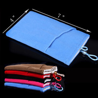 """Fashion Elegant Lint Protective Phone Cloth Sleeve Bag Pouch 7"""" * 4"""" Double Layer for Samsung Galaxy S5 i9600 S4 Note 3 2 etc"""