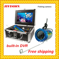 "TF Card recorded 800TVL 12 bright light underwater camera dvr 7"" TFT Color LCD for Fishing finder Video visual fishing Camera"