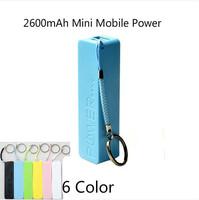 Perfume 2600mAh Portable Mini USB External Mobile Power Bank Charger For Smart Mobile Phone +Micro USB Cable