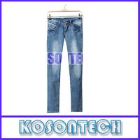 FREE SHIPPING Autumn Spring 2014 New Style Zipper Fly Denim Slim Skinny Womens Jeans Pencil Pants True Blue KS6197