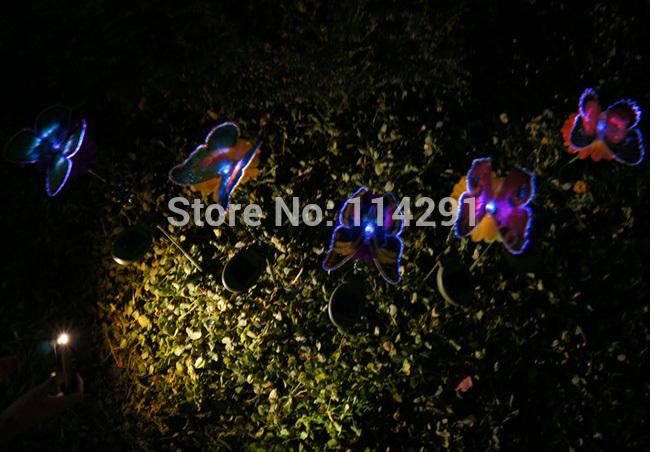 New 2014 Bee/Butterfly/Dragonfly Solar light outdoor decoration solar dragonfly\bee\butterfly novelty gadget garden lamp(China (Mainland))