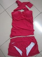 High quality 2014 tankini set swimsuit factory direct women piece swimsuit beach bathing suits high waist