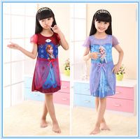 Factory Outlet Wholesale Frozen Dress Princess Summer Casual Girl Dress Girl Print Brand Prom Party Evening Long Dresses
