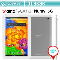 Original10.1 inch Ainol AX10T Numy 3G MTK8312 1.3GHz Dual Core 1GB RAM 8GB Rom Android 4.2 WCMDA Dual Sim GPS OTG