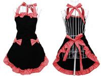 Free shipping women Lady cotton cloth apron Korean aprons the fashion Pink striped apron kitchen apron