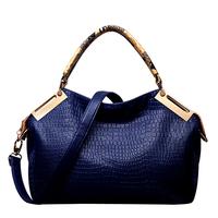 2014 Hot New Fashion High Quality Crocodile Vintage PU Leather Women Handbags Clutches Shoulder Bags Women Messenger Bags bolsas