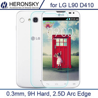 0.3mm Tempered Glass for LG L90 D410 2.5d Arc Edge Anti Explostion Fingher Print High Transparent with Clean Tools