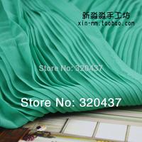 2014 new Crinkle Chiffon ruffled 75d lace fabric creped silk orgnan pleated crumple chiffonone-piece dress lace fabric 150cm