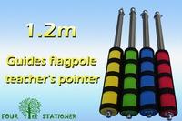 1 метр из нержавеющей стали указатель телескопическая Батон телескопическая Батон школьные принадлежности многофункциональный гиды флагшток