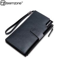 Long design male card holder big capacity casual commercial multi card slots men purse fashion man clutch wallet Q049