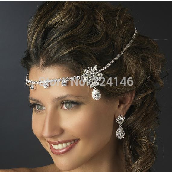 L'arrivée de nouveaux 2014 argent strass mariée frontlet gros de mode bijoux de cheveux épingles à cheveux de mariage clair