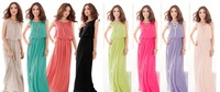 Summer women's Exclusive S - XXXL! 4 Colors, summer dress 2014 New Hot Sale High Quality Pleated Bohemia Maxi Long Chiffon Dress
