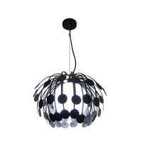 Hottest sale leaf model home decoration pendant lighting black lamp base