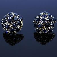 2014 Branded Stud Earrings For Women Statement Sapphire Dandelion Crystal Earring Fashion Jewerly Brand Blue Gem Earrings e05