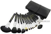 20pcs Professional Makeup Brush 20pcs Goat Hair  Brsuhes Set & Kits Make up Tools 20 pcs Cosmetics Make-up Brush PU Leather Bag