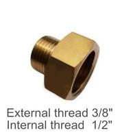 """Brass Internal and External Thread 3/8"""" to 1/2"""" Convert Screw Adapter Screw Thread"""