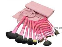 20Pcs hotsale Vegan Pink Professional Makeup 20 pcs Brushes Set & Kits Topper Cosmetic 20pcs Make up  Brush Kit Free Shipping