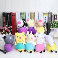 8pcs/lot 2014 peppa pig friends plush toys Animal  zoe suzy Dog cat sheep rabbit elephant doll gift