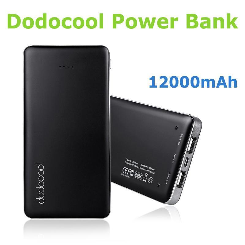New Universal USB 12000mAh Long Lifespan Patented dodocool External Backup Battery Charge Station Portable Power Bank Supply(China (Mainland))