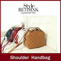 2014 preppy style square plaid women's handbag fashion small bag one shoulder handbag messenger bag female bags