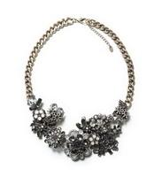 New Arrival fashion Z crystal flower necklace & pendant chunky luxury bib  pendant choker Necklace statement  jewelry women