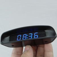 New arrival ultra-thin car clock car electronic clock luminous car voltage meter