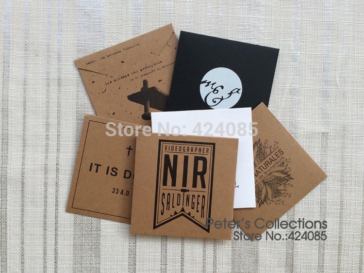 Kraft Paper Personalized Custom Envelopes CD Cases CD Sleeves DVD Cases CD DVD Packaging Printing Logo Stamp(China (Mainland))