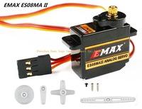Original EMAX Servo Motor 08MA Metal Gear Torque 2kg 12g Mini High Speed Futaba/JR ES08MAII Replace MG90S for Trex 450 RC Heli