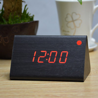 Quality Goods Alarm clocks,Thermometer Wood Wooden LED Digital Voice Table Clock,Big numbers Digital Clock With Home decor