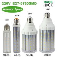 SMD 5730 E27 220V 6W / 8W / 10W LED corn bulb with transparent lamp cover Ultra bright Warm white/white light