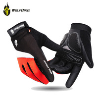 GEL Padded Bike Bicycle Gloves Men's Full Finger Cycling Bike Bicicleta Ciclismo Guantes Sports Fitness Luvas