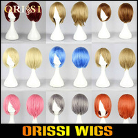 Hot Selling 32 CM Heat Resistant Synthetic Fiber Short Cosplay Wigs