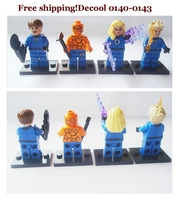 DECOOL *0140-143* Super Heroes Avengers MR. fantastic, THING, HUMAN TORCH INVISIBLE WOMAN Minifigures building Blocks Toys