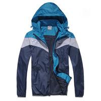2014 Hot NIKE Men's Windbreaker casual sports jacket zipper cardigan men hooded jacket thin men sportswear coat Free shipping!