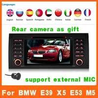 Auto Car Radio DVD Player Audio Stereo Head Unit Autoradio GPS STA NAV Navi Navigation For BMW 5 Series X5 E39 E53 M5+Canbus+MAP