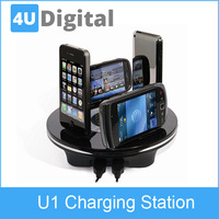 EU/US Plug electronic Multifunctional universal mobile phone charging station and fast charger for iPhone and other mobile phone