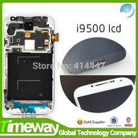 1000% new For Samsung Galaxy S4 IV i9500 i9505 i9506 i9507 i337 i545 L720 M919 LCD Screen Digitizer +Frame assembly