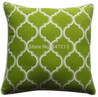 "Free shipping cushion cover decorative  pillow cover  blue  green orange  lantern geometry  print 18""x18 for sofa bedding car"