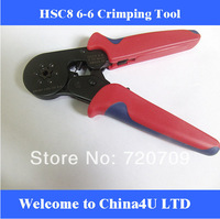 Free shipping HSC8 6-6 Bootlace Ferrules Crimping Tools Self-adjustable crimping Plier for solar pv cable