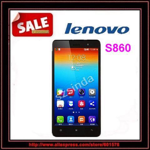 """Lenovo originale s860 wcdma telefono 4000 mAh batteria quad core mtk6582 1,3 GHz 5.3""""IPS 720p Android 4.2 1gb 16gb 8.0mp fotocamera otg"""