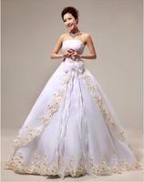 2014 clothing Bra sleeveless white lace wedding dress long sections vestido de novia vestido de noiva 016