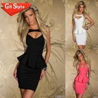 N122 2014 new Sexy  Peplum Dress M L XL Plus Size Dress 2014 New Fashion Women Sexy Black Bodycon Mini Casual Dress