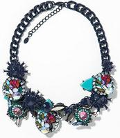 NEW arrive Z design flower necklace & pendant fashion choker luxury statement chain collar bib necklace for women 2014