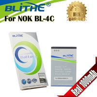 Blithe NOK-BL-4C  Real 1000mAh Battery For NOKIA 6100 6300 6131 X2-00 2220S 1202 3500C C2-05 BL-4C