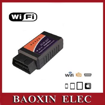 2014 ELM327 wifi obd2 диагностический прибор для obdii с беспроводной интерфейс сканера ...