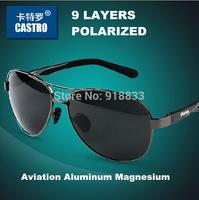 2014 Aviator Men's Aluminum Magnesium Alloy Polarized Sunglasses Driver Mirror Driving Male Fishing Outdoor Sports Man Eyewears