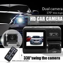 Dual Lens Camcorder i1000 Car DVR Dual Camera HD 1080P Dash Cam Black Box With Rear 2 Cam Vehicle View Dashboard Cameras(China (Mainland))