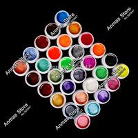 New 30 PCS Mix Colors Pearls UV Builder Gel Acrylic Nail Art Set for Nail Tips
